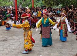 To celebrate Shoton, opera at the Norbulinka, summer palace of the Dalai Lama, Lhasa, Tibet