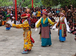 To celebrate Shoton, opera at the Norbulinka, summer palace of the Dalai Lama, Lhasa, Tibet