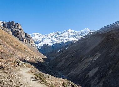 Trail leading to Throng La Pass, Annapurna, Nepal