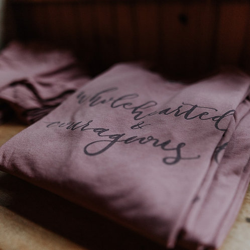 Wholehearted & Courageous Calligraphy Tank