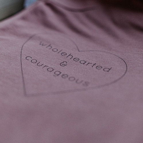 Wholehearted & Courageous Heart Tee