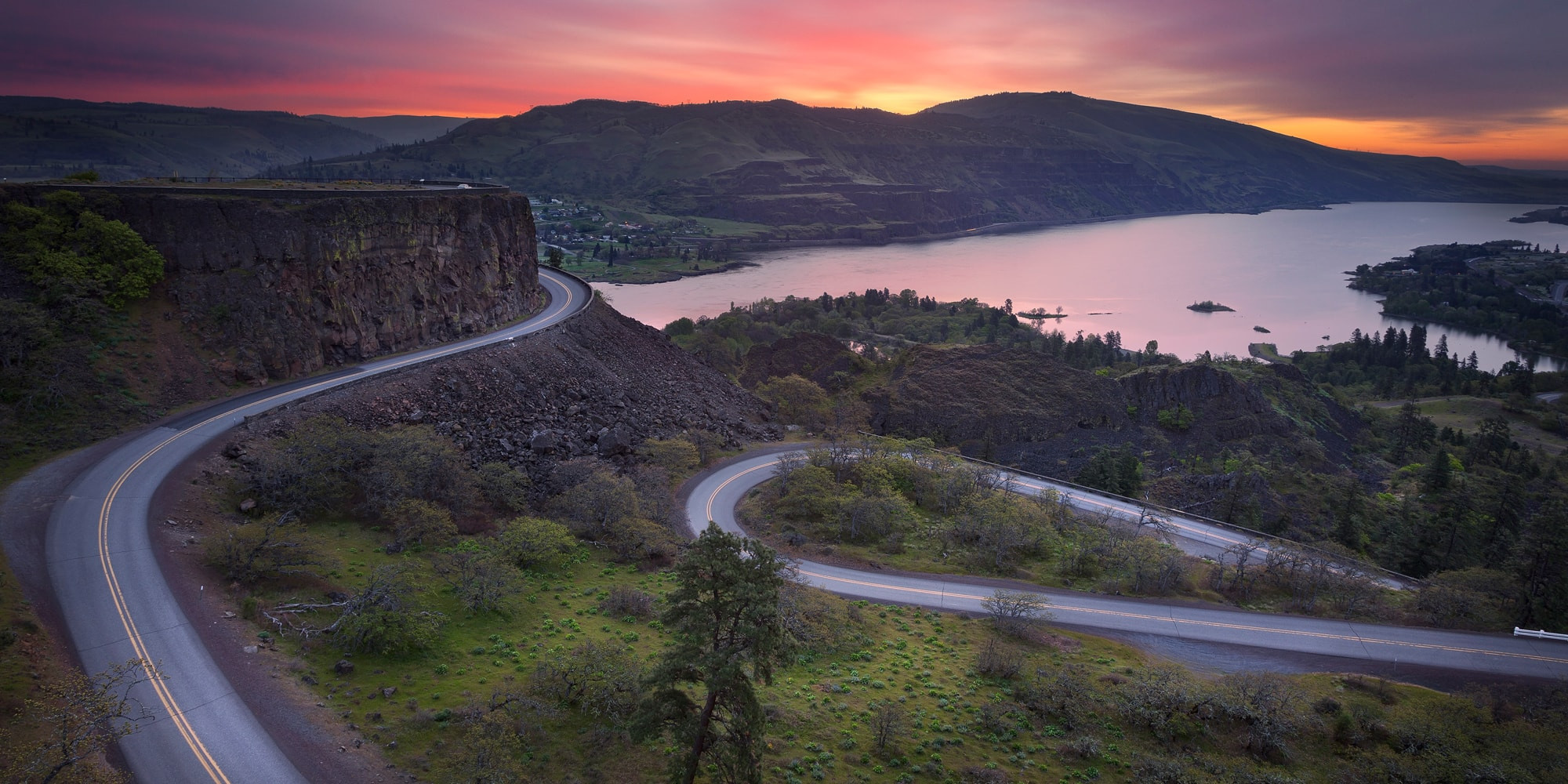Columbia River Gorge at Sunset