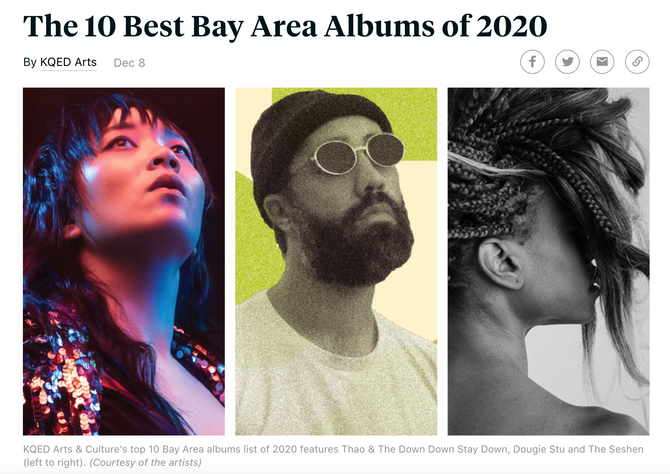 KQED Choses our Record as one of the 10 Bay Area Albums of 2020!