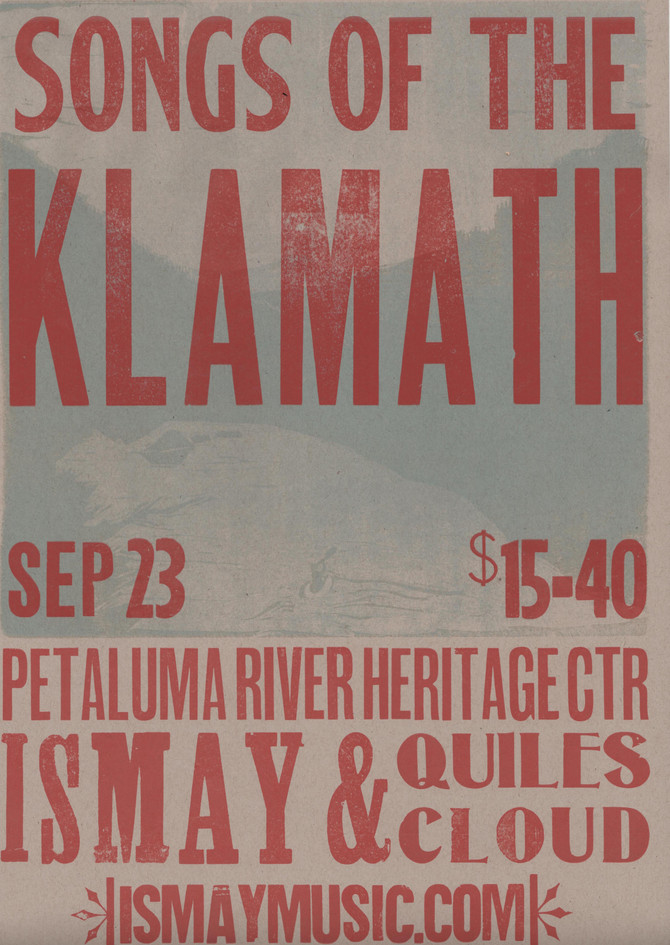Songs of the Klamath Short Film Premiere in Petaluma Sept 23rd!