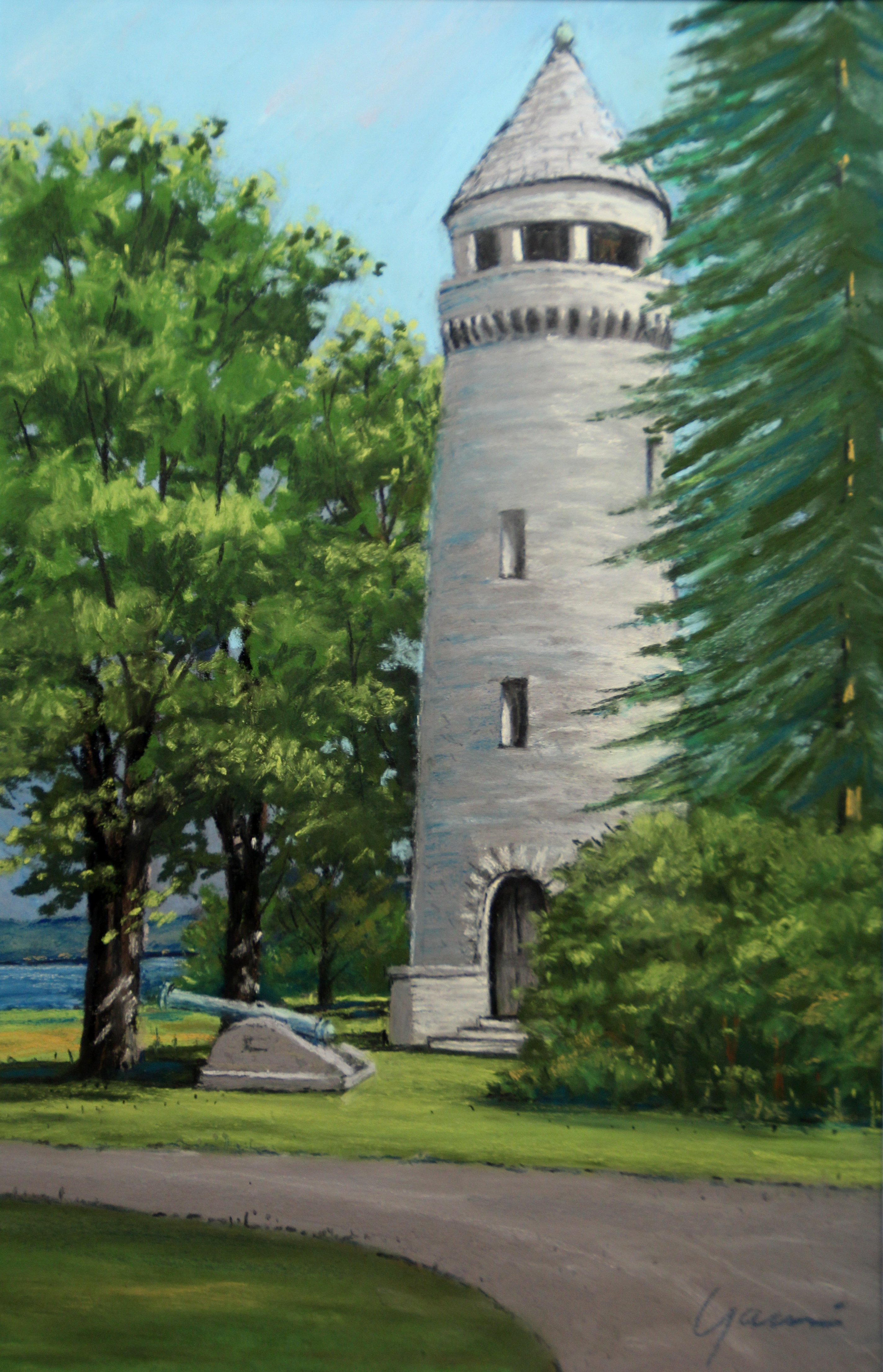 WATER TOWER Madison Barracks, plein air