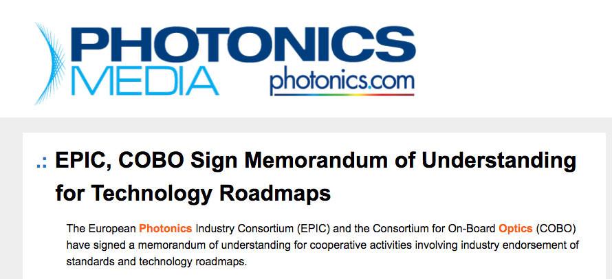 EPIC, COBO Sign Memorandum of Understanding for Technology Roadmaps