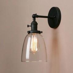 Glass Cloche Wall Light