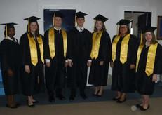 Highlander Academy Senior Class 2017: L to R  Mallorie Nickelson, Grace Weaver - Valedictorian, Tanner McPhaul, Gavin McPhee, MacKenzie McGehee, Victoria Chavis and Sara Goldsberry - Salutatorian