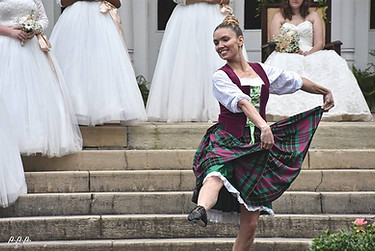 Katherine Bersch dances the Scottish Lilt.