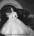 Mary McLean, May Queen in 1956