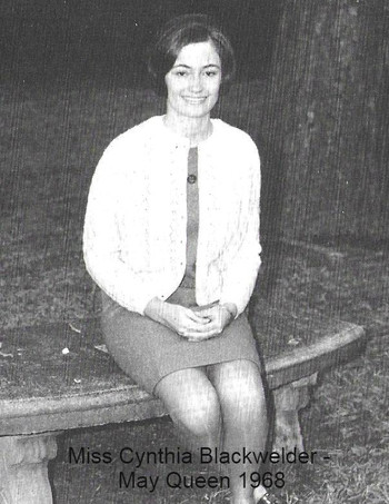 Miss Cynthia Blackwelder, May Queen in 1968