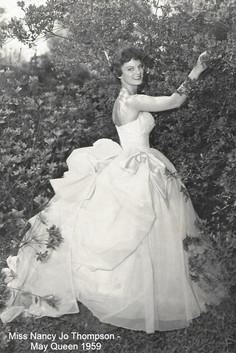 May Queen Nancy Jo Thompson in 1959