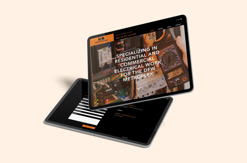 """We partnered with Neece Electric, residential and commercial electrician in Fort Worth, TX, to design their custom website for the business. We designed the website with initial SEO, online booking feature and services with great results.  """"Chris was able to create my company website quickly. I have so much business today that I am expanding and hiring new people just to keep up! Highly recommend Brandname!"""" - Chris N., Owner/Operator, 5 Star Review.  Check out the live website below:"""