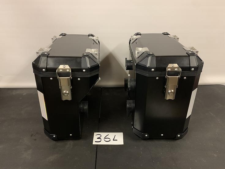 36-Liter Black Pannier/Boxes Powder-Coated