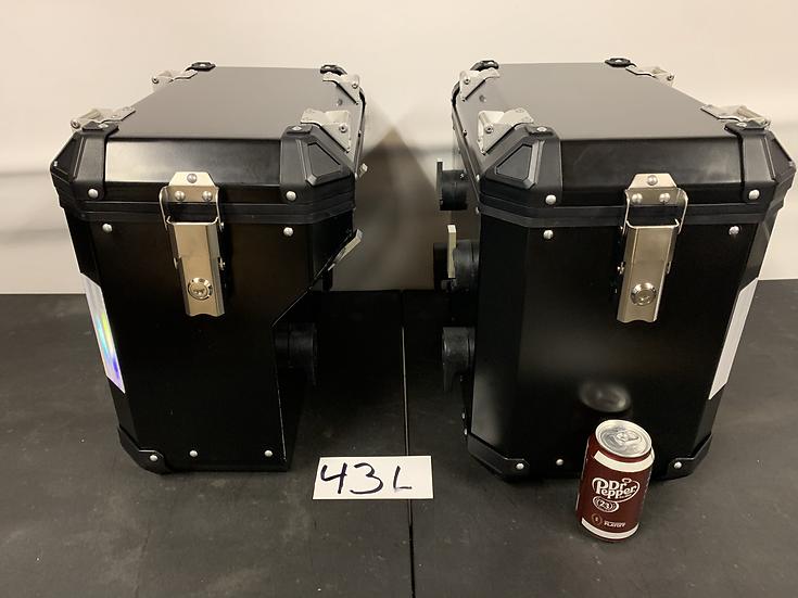 42-Liter Pannier/Boxes Black Powder-Coated