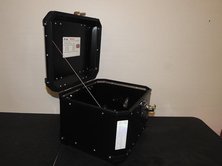 43-Liter Black Powder-Coated Top Box