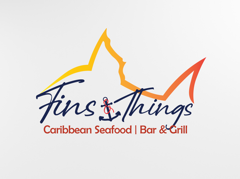 Fins and Things custom logo.