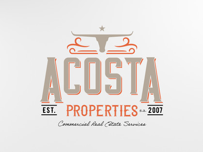"""Acosta Properties custom logo.  """"Professionalism and responsiveness are two reasons I decided to work with Chris. He was always cool even when I was not. He is great to work with. You will like working with him."""" - Bobby A., Real Estate Agent, 5 Star Review"""