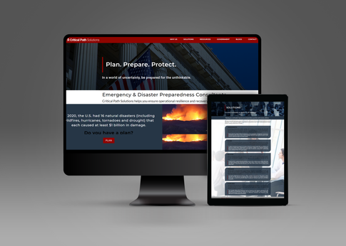 """We partnered with Critical Path Solutions, emergency and disaster preparedness consultants, to re-design their existing corporate website. Under a very tight deadline, we were able to re-design and launch their updated website over the holiday weekend with fantastic results!  """"Great new look to the website. We had a short deadline and BrandName made it happen. The value for what was received was of value for the company. I would definitely recommend them."""" - Ivonne C., VP of Marketing, 4.5 Star Review.  Check out the live website below:"""