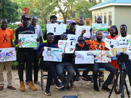 Affirmative Art workshop at Blue Dove Hotel, Koboko - UGANDA - 2020