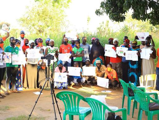Affirmative Art workshop at Indre Youth Group, Yumbe - UGANDA - 2020