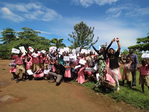 Affirmative Art workshop at the Deaf School , Masaka - UGANDA - 2019