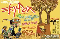 Sky Fox Concert Poster & Flyer