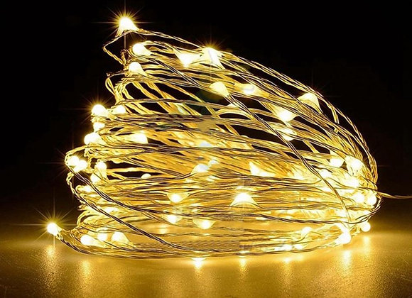 Copper Wire LED String Lights Holiday Lighting Fairy Garland for Christmas Tree