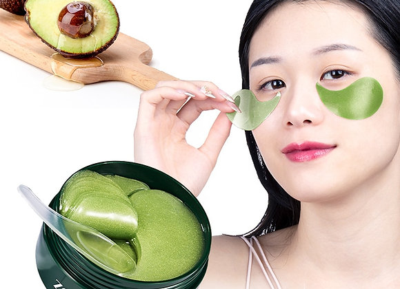 60 Pcs Avocado Collagen Mask Natural Moisturizing Gel Eye Patches Remove Dark