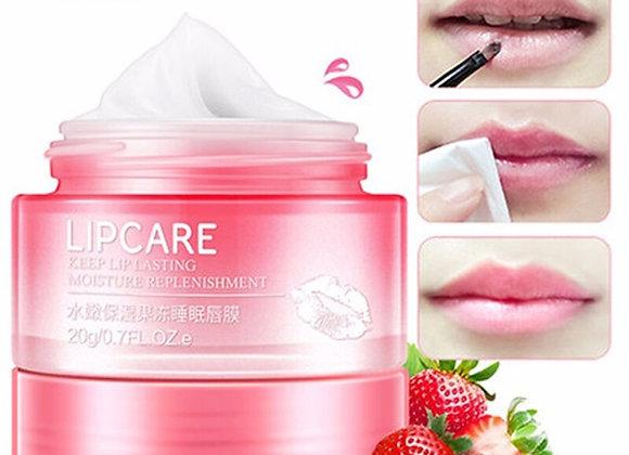 Strawberry Lip Sleeping Mask Exfoliator Lips Balm Moisturizer Nourish Lip Plump