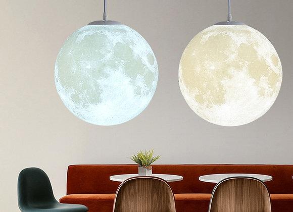 3D Print Moon Pendant Lights Novelty Creative Atmosphere Light 18W AC110-220V