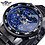 Thumbnail: Winner Transparent Diamond Mechanical Watch Blue