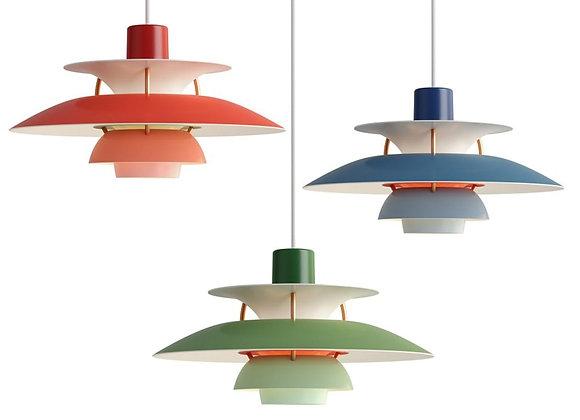 Nordic Design PH5 LED Pendant Lights Colorful Umbrella Shape Lustre Suspens