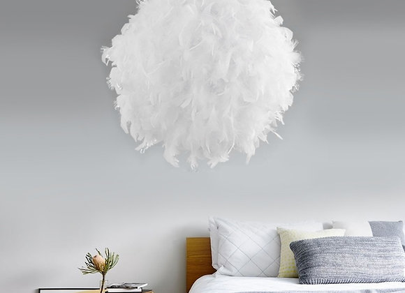220V Modern Pendant Ceiling Lamp Feather Ceiling Droplight Bedroom Study Room