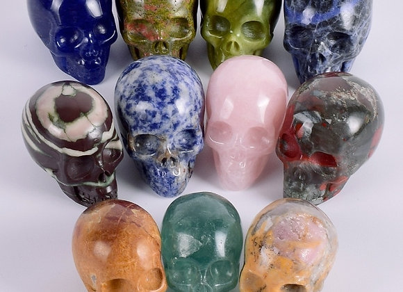 Natural Crystal Skull Gems Ghost Head  Carved Crystal Skull