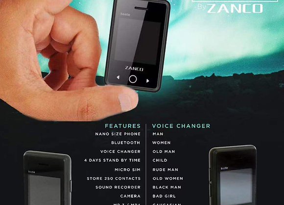 2G Zanco Beetle the World's Smallest PDA Phone 1.54Inch IPS Colour Screen Blue
