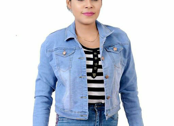 Latest women's Jacket -Jeans material