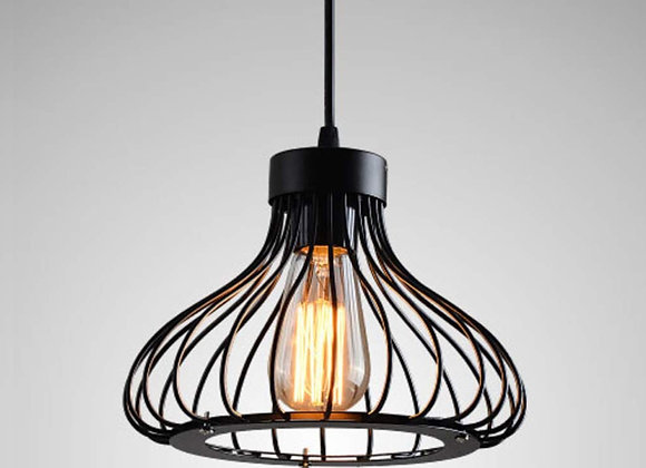 Retro Industrial Metal Pendant Light, Vintage Cage Ceiling Lamp, for Bar, Dini
