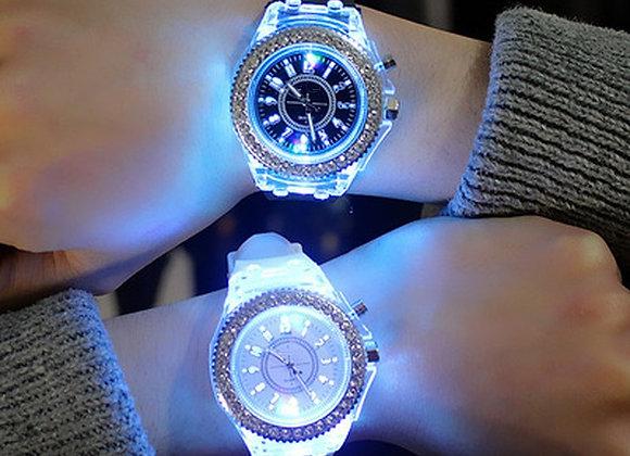 7 Color Light WristWatch Led Flash Luminous Watch