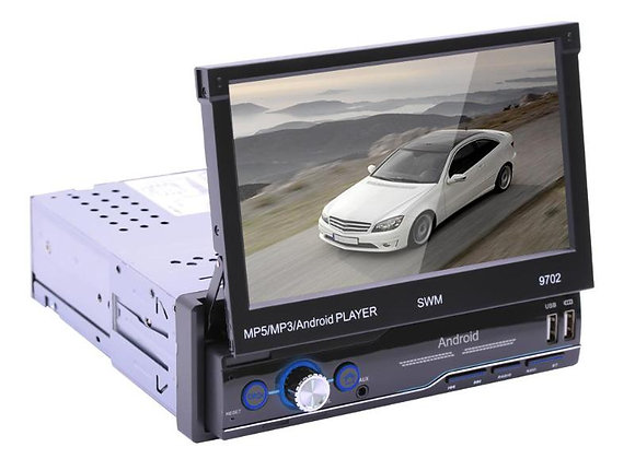 9702 Android 8.1 Retractable Car Stereo Audio Mirror Link GPS Navi Bluetooth 1DI