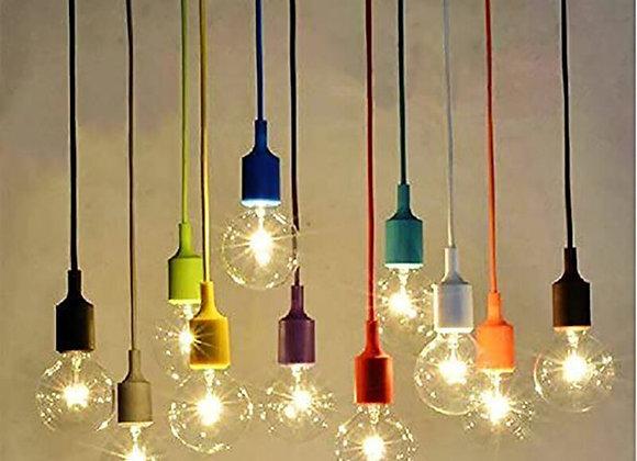 1M Silicon Pendant Hanging Lamp Holder E27 Bulb Base Mount Ceiling Lamp Modern