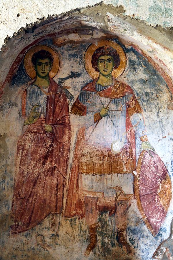 Ancient Byzantine Frecoes
