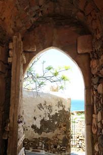 Old Kastro's door Chora
