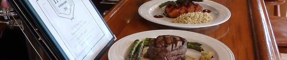 Kennett Square Inn Restaurant & Tavern Filet and Salmon Dishes