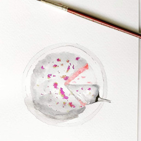 Strawberry rose cake by Kathryn Pauline