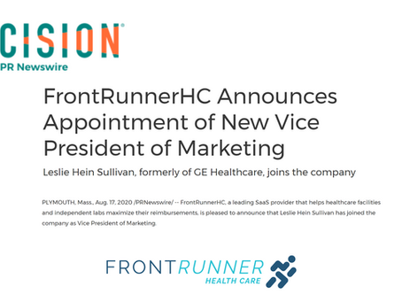 FrontRunnerHC announces appointment of new Vice President of Marketing