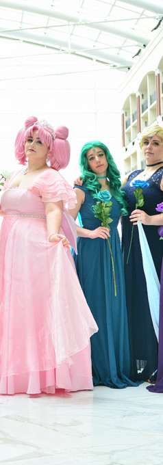 Princess Pluto with the Sailor Scouts - Katsucon 2018