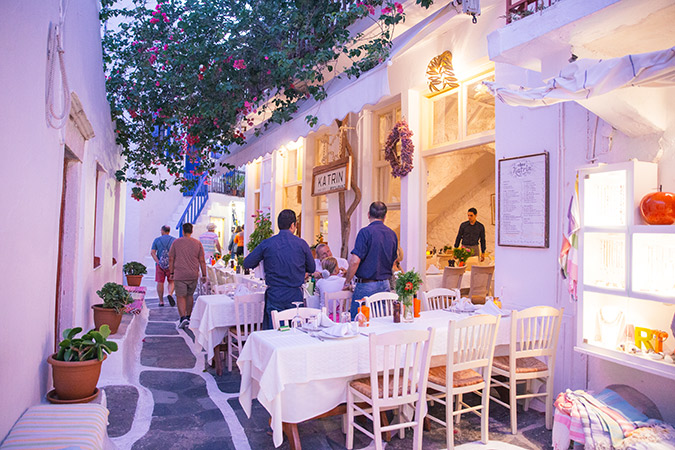 Mykonos-Greece-Cafes