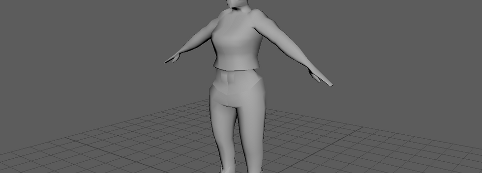 Half-Orc Model Blocking Stage Screenshot
