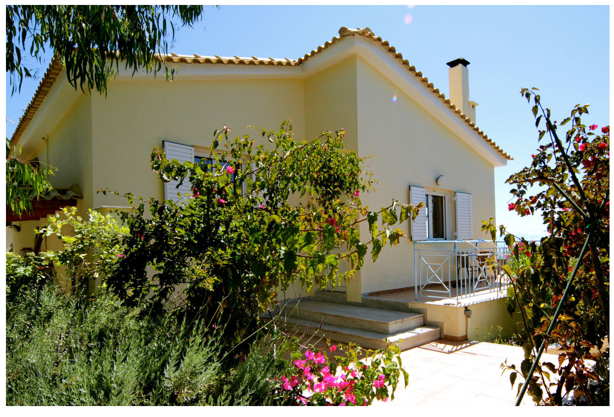 Villa Elya Entrance and side Balcony